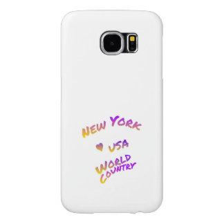 Funda Samsung Galaxy S6 Ciudad del mundo de Nueva York, arte colorido del