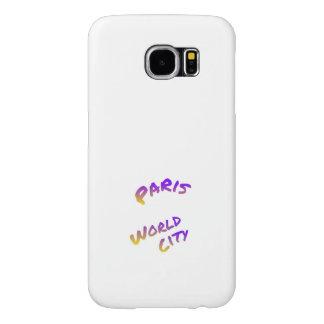 Funda Samsung Galaxy S6 Ciudad del mundo de París, arte colorido del texto