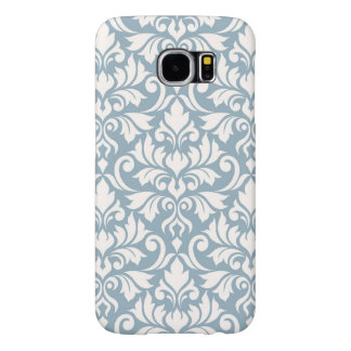 Funda Samsung Galaxy S6 Crema grande del modelo del damasco del Flourish