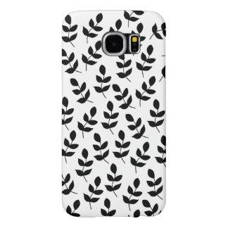 Funda Samsung Galaxy S6 Cubierta blanco y negro del teléfono de la galaxia