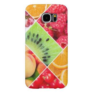 Funda Samsung Galaxy S6 Diseño colorido del modelo del collage de la fruta
