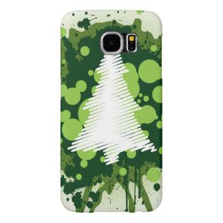 Funda Samsung Galaxy S6 Diseño salpicado del árbol de navidad de la