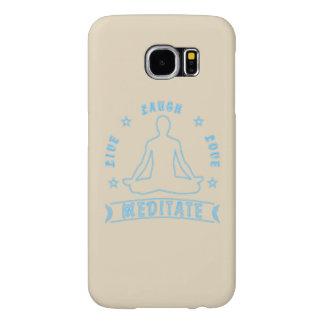 Funda Samsung Galaxy S6 El amor vivo de la risa Meditate el texto