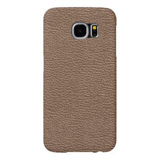 Funda Samsung Galaxy S6 El cuero tiene gusto cobrizo