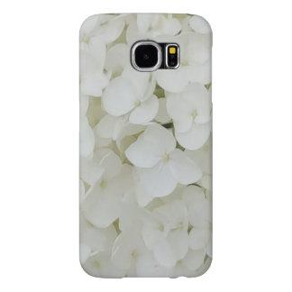 Funda Samsung Galaxy S6 El Hydrangea florece el flor elegante blanco