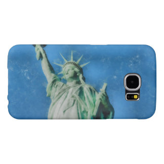 Funda Samsung Galaxy S6 Estatua de la libertad, pintura de las acuarelas