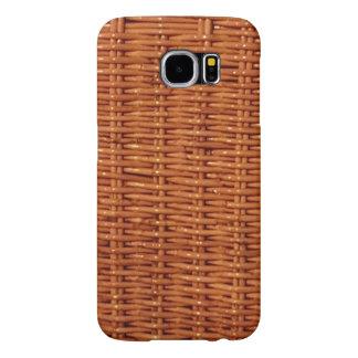 Funda Samsung Galaxy S6 Estilo rural de mimbre rústico de la cesta de la