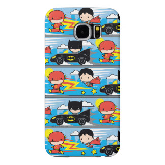 Funda Samsung Galaxy S6 Flash, superhombre, y Batman de Chibi que compite