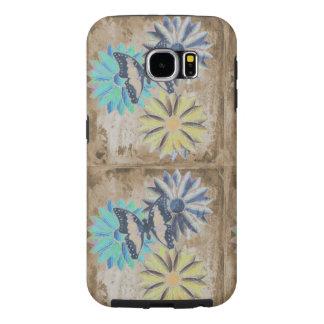 Funda Samsung Galaxy S6 Flores de las margaritas de la mariposa en el caso