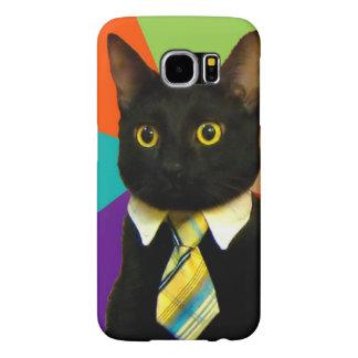 Funda Samsung Galaxy S6 gato del negocio - gato negro