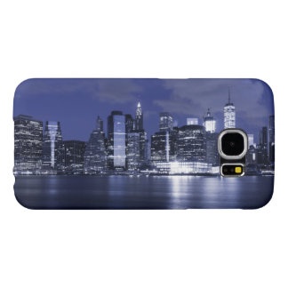 Funda Samsung Galaxy S6 Horizonte de Nueva York bañado en azul