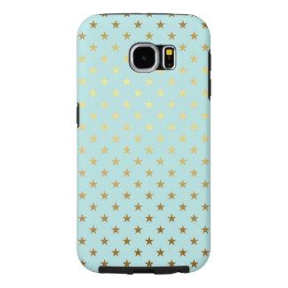 Funda Samsung Galaxy S6 La estrella metálica de la hoja del oro