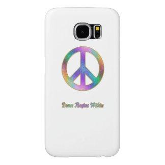 Funda Samsung Galaxy S6 La paz comienza dentro de signo de la paz