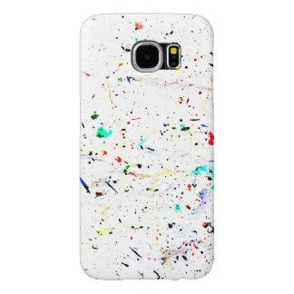 Funda Samsung Galaxy S6 La pintura del arte abstracto salpica y los puntos