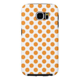 Funda Samsung Galaxy S6 Lunares anaranjados