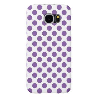 Funda Samsung Galaxy S6 Lunares púrpuras