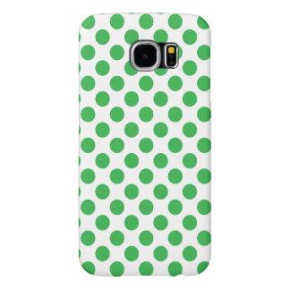 Funda Samsung Galaxy S6 Lunares verdes