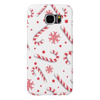 Funda Samsung Galaxy S6 Modelo de barra dulce de caramelo de Christmassy