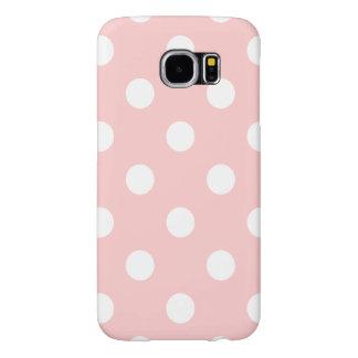 Funda Samsung Galaxy S6 Modelo de lunar rosado y blanco