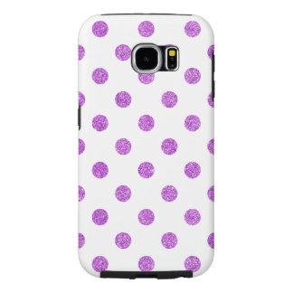 Funda Samsung Galaxy S6 Modelo de lunares púrpura elegante del brillo