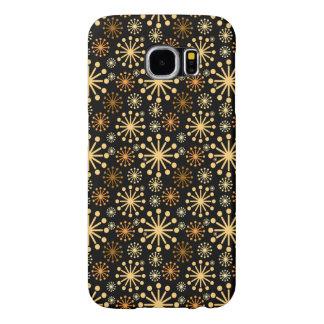 Funda Samsung Galaxy S6 Modelo de oro y de plata de los copos de nieve
