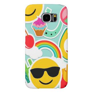 Funda Samsung Galaxy S6 Modelo del pegatina de Emoji de la diversión