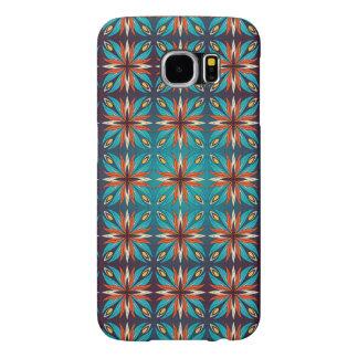 Funda Samsung Galaxy S6 Modelo inconsútil retro geométrico abstracto