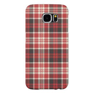 Funda Samsung Galaxy S6 Modelo rojo y negro de la tela escocesa