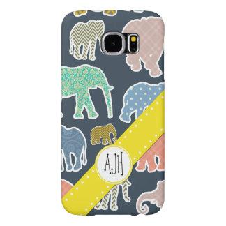 Funda Samsung Galaxy S6 Monograma - elefantes, lunares, zigzag, guinga