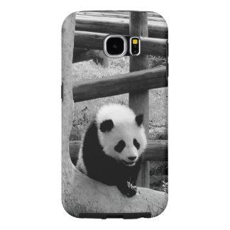 Funda Samsung Galaxy S6 Panda - fotografía blanco y negro