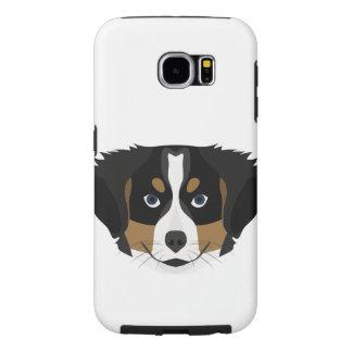 Funda Samsung Galaxy S6 Perro de montaña de Bernese del ilustracion