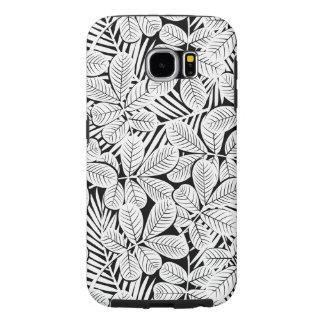 Funda Samsung Galaxy S6 Plantas tropicales blancos y negros