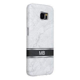 Funda Samsung Galaxy S6 Profesional de mármol del negocio del monograma