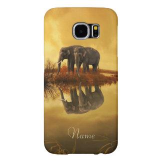 Funda Samsung Galaxy S6 Puesta del sol de los elefantes