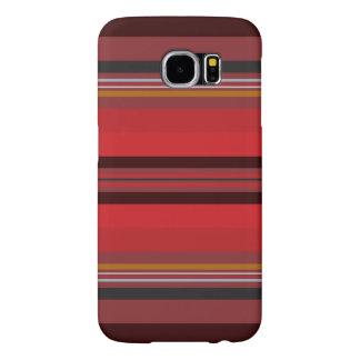 Funda Samsung Galaxy S6 Rayas - horizonte rojo