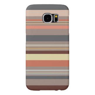 Funda Samsung Galaxy S6 Rayas - tonos retros