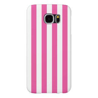 Funda Samsung Galaxy S6 Rayas verticales rosadas