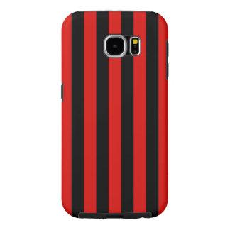Funda Samsung Galaxy S6 Rojo y rayas negras, equipo de fútbol de Milano,