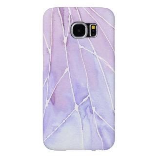Funda Samsung Galaxy S6 Rotura de mármol purpúrea clara