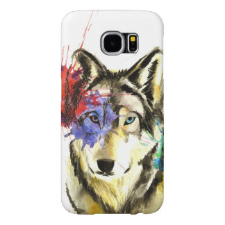 Funda Samsung Galaxy S6 Salpicadura del lobo
