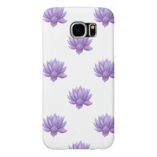 Funda Samsung Galaxy S6 Succulent púrpura de la acuarela