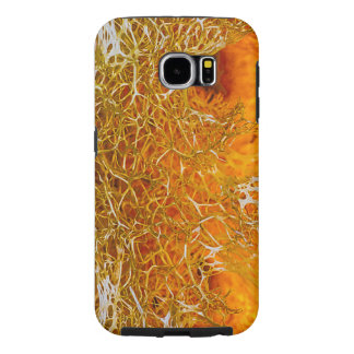 Funda Samsung Galaxy S6 Textura anaranjada