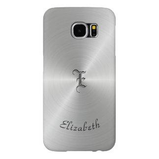 Funda Samsung Galaxy S6 Textura pulida circular del metal, personalizada