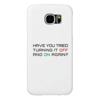 Funda Samsung Galaxy S6 ¿Usted ha intentado girarlo apagado y otra vez?