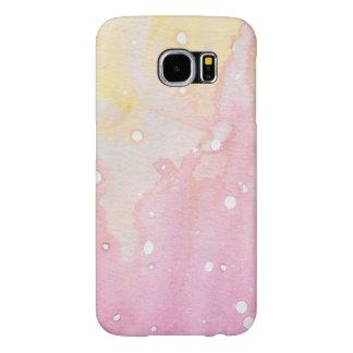 Funda Samsung Galaxy S6 Watercolour de mármol rosado Splat