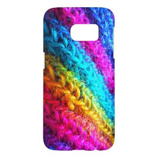 Funda Samsung Galaxy S7 Arco iris de neón del ganchillo