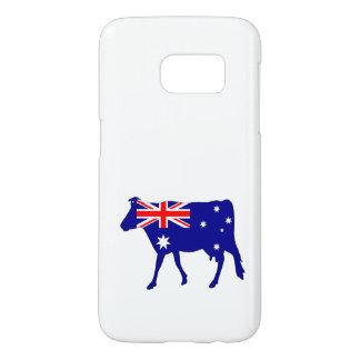 Funda Samsung Galaxy S7 Bandera australiana - vaca