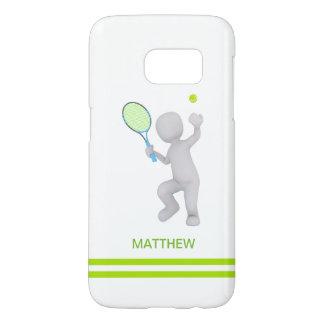 Funda Samsung Galaxy S7 bola de la estafa de tenis del jugador de tenis 3D