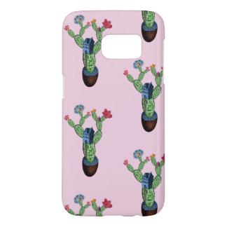 Funda Samsung Galaxy S7 Cactus espinoso con las flores