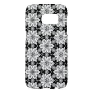 Funda Samsung Galaxy S7 Caja androide de la flor blanco y negro